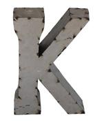 Rustic Arrow Letter K for Decor, 36cm , Silver