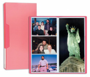 Pioneer Photo Albums CF-3 144-Pocket Poly Cover Space Saver Photo Album, Red