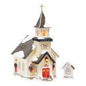 Department 56 Original Snow Village Holy Family Church, set of 2