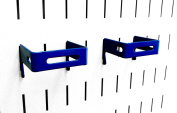 Wall Control 10-CB-022 BU C-Bracket Slotted Metal Pegboard Hook for Wall Control Pegboard Only, 5.1cm x 5.1cm , Blue