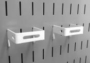 Wall Control 10-CB-022 W C-Bracket Slotted Metal Pegboard Hook for Wall Control Pegboard Only, 5.1cm x 5.1cm , White