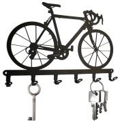 Racing Bicycle - Key Holder - Bike, Hooks, Hanger, Steel, Black