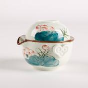 Dehua Porcelain Hand-painted Chinese Kung Fu Teaset,porcelain China Gong Fu Tea Set,1teapot & 1tea Cup,portable Travel Tea Set