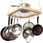 Hanging Pot Pan Rack Kitchen Ceiling Cookware Set Holder Storage Skillet Frying Hooks Hangers