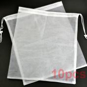 BCP 10 Pcs 30cm x 36cm Reusable Produce Single Drawstring Mesh Bag for Carrying Food/fruits