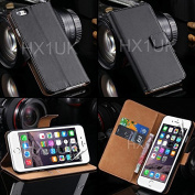 Zonewire® BLACK LUXURY GENUINE LEATHER WALLET CASE COVER & SCREEN PROTECTOR FOR APPLE IPHONE 4 /4S 5 5S 5C 6 6S PLUS