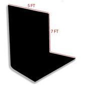 ePhotoInc Photography Photo Video Studio Portrait 5 x 7 Black Muslin Backdrop Background 57B