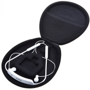 Cosmos ® Black Colour Pu Leather Protection Carrying Case Cover Box for Sony SBH80 Bluetooth Headset & Motorola Buds SF500
