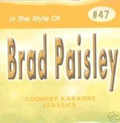 BRAD PAISLEY Country Karaoke Classics CDG Music CD
