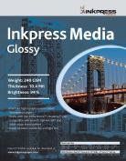 INKPRESS MEDIA Gloss 240 GSM, 10.4 Mil, 94 Percent Bright Paper