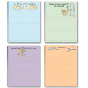 Funny Dog Theme Pads - 4 Assorted Note Pads