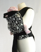 Palm and Pond Mei Tai baby carrier - Black and White Vintage