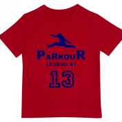 "Boys ""Parkour Legend at 33cm Birthday T Shirt Gift for Aspiring Free Running Enthusiasts"