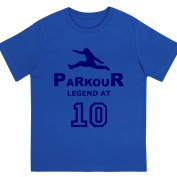 """Boys """"Parkour Legend at 25cm Birthday T Shirt Gift for Aspiring Free Running Enthusiasts"""