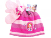 BNWT Girls warm winter Sofia the First Hat and Mitten set christmas gift 3-6 Years