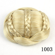Hot Fashion, Beauty Effect 6 Colours, Cute Knitted Hair bun , Hair Chignon, Donut Roller Hairpieces, Synthetic Hair,Small Size 1pc