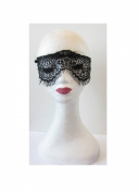 Black Eyelash Lace Eye Mask Veil Net Masquerade Cosplay Fancy Dress Sexy S49 *EXCLUSIVELY SOLD BY STARCROSSED BEAUTY*