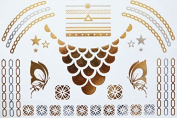 Gold Silver Metallic Temporary Tattoo code 5
