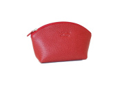 Leather Make-up Bag by Laurige - Red
