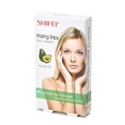 Shifei Waxing Strips For Face and Underarm With Avocado Oil- No Heating Required- 20 Strips 5cm x 10cm Plus 2 Finish Wipes