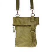 Shoulder bag leather washed garment-dyed with strap DUDU Pistachio Green