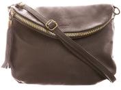Big Handbag Shop Amy Real Italian Leather Messenger Cross Body Shoulder Bag