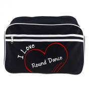 Modern Retro Bag with I Love Round Dance Black