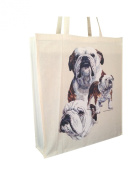 Bulldog Group Cotton Shopping Bag with Gusset and Long Handles Perfect Gift
