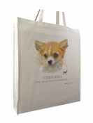 Chihuahua HR Breed of Dog Group Reusable Cotton Shopping Bag Tote Gusset for Extra Space and Long Handles - Perfect Gift