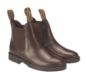 Rhinegold Childs Classic Leather Pull On Jodhpur Boots In Brown, Size