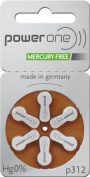 30 x Varta Powerone P312 Mercury Free Mercury hearing aid batteries