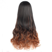 """MapofBeauty 30"""" 75cm Mixed Colour Fashion Big Wave Wig Curly Long 3/4 Hair Half Wigs"""