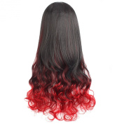 "MapofBeauty 30"" 75cm Mixed Colour Fashion Big Wave Wig Curly Long 3/4 Hair Half Wigs"