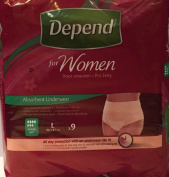 SIX PACKS of Depend For Women Absorbent Underwear Super Large 9 Pants