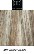 HerStyler Elite Extensions - 46cm Long 100% Human Hair Extensions Instant Clip (MIX BR004/BL100