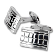 Design cuff links made from polished stainless Steel-Smart Design International Connexion