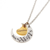 I Love You To The Moon and Back Pendant Necklace - Grandma