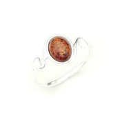 BALTIC AMBER & SILVER RING