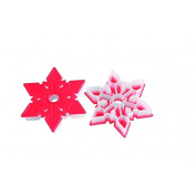 Silikomart Snowflake Cookie Cutter, Red