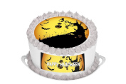 Happy Halloween 19cm Inch Round Circular Cake Topper - Printed on Premium Quality Icing Sheets - With FREE Banner!