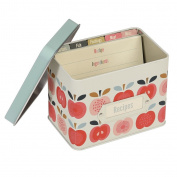 dotcomgiftshop Vintage Apple Design Recipe Tin