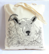 Through the hedge 'sheep' Print Tote Bag