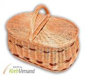 Wilpo Picnic basket 45x30x33 Shopping basket Willow Mushroombasket Car baskets Carrying basket Willow ...