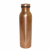 DakshCraft Handmade Copper Thermos Bottle with Lid