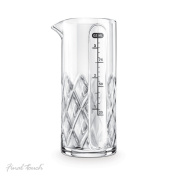Final Touch Yarai Double Jigger Glass Cocktail Mixing Jug Heavy Duty Thick Walled Glass - 3.4oz / 100ml