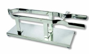 Flores Cortés Ham Holder with Stainless Steel Tongs and Stainless Steel Base