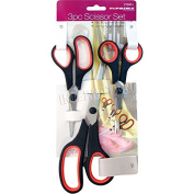 3PC STAINLESS STEEL TAILORING SCISSORS DRESSMAKING DRESS MAKING FABRIC SHEARS