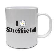 I LOVE SHEFFIELD - South Yorkshire / Rose / Fun / Gift Idea Ceramic Mug