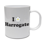 I LOVE HARROGATE - North Yorkshire / Rose / Fun / Gift Idea Ceramic Mug
