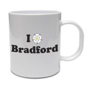 I LOVE BRADFORD - West Yorkshire / Rose / Fun / Gift Idea Ceramic Mug